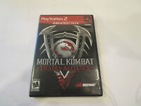 Mortal Kombat Deadly Alliance for Ps2  VG Cond  With  Manual  Free Shipping