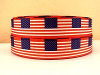 UNITED STATES OF AMERICA FLAG 22MM Grosgrain Ribbon Craft Wrap USA Metre RB40