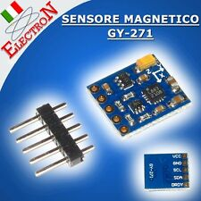 Sensore Magnetico 3 Assi GY-271 HMC5883L Magnetometro Bussola Digitale Arduino