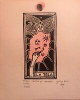 Serigraph by Yamilys Brito  ̈El hombre Ilustrado ̈, signed, Huella Multiple