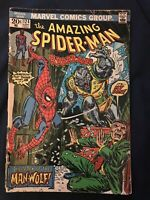 AMAZING SPIDER-MAN #124 (1973) KEY ISSUE: 1st appearance Man-Wolf, Low Grade