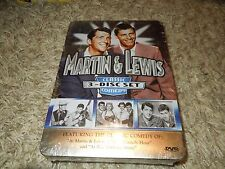 Martin and Lewis - Classic Comedy: 3-Disc Set (DVD, 2007, Collectors Tin) *NEW*