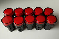 10pcs 12V DC AC 22mm Red LED Power Indicator Signal Light AD16-22D/S