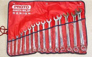 PROTO ASD Antislip, 15 piece SAE Combination Professional Wrench Set Combo - USA