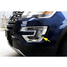 Pair Chrome Front Fog Light Cover Trim For Ford Explorer 2016 2017