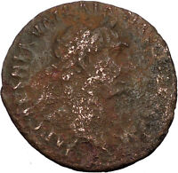 Trajan 98AD Ancient Roman Coin Victory with shield  i35617