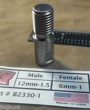 Adapter 12mm-1.5 Male by 6mm-1 Female, Speargun, Tip, Pole Spear Stainless
