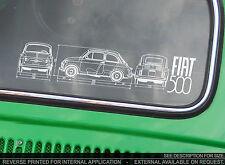 Fiat 500 CLÁSICO-Pegatina De Coche-foro propietarios Club Blueprint NUOVO D, f, L, R Abarth