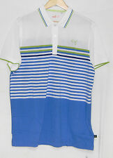 New with Tags 2014 Puma Cb Stripe Polo Shirt, Blue Aster, 565493 03