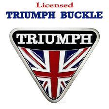 Avec licence Triumph Moto Boucle de Ceinture Classic British Motocyclette  187 7f2cf0e6246