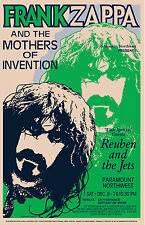 Freaky: Frank Zappa at Pacific Northwest Concert Poster Circa 1971