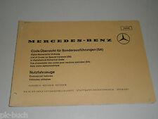 Code Übersicht Special Equipment Sa Mercedes Benz Commercial Vehicles Truck,