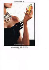 PUBLICITE ADVERTISING  1987   JEAN-LOUIS   SCHERRER   parfum SCHERRER 2