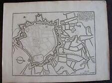 PLAN DE ST OMER, ville forte dans le comte d'Artois : gravure originale1693