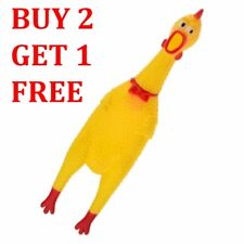 "Fun Pet Dog Shrilling Rubber Chicken Chew Sound Squeeze Screaming Toy 12"" Inches"
