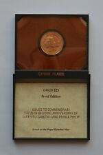 More details for 1972 cayman islands gold $25 coin in case