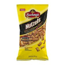 LOT OF 3 Bags Bachman Nutzels Brick Oven Flame Baked Pretzels FREE SHIP