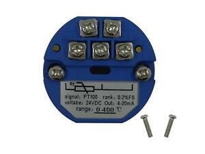 RTD PT100 Temperature Sensors Transmitter with 4~20mA Output (0-400 ℃/  32-752℉)