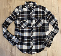 Abercrombie & Fitch Women's Shirt Black White Check Small Cotton Blend