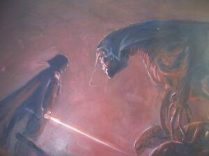 Star Wars Aliens Darth Vader oil painting 40x28 inch Zenomorph, Jedi, Sith