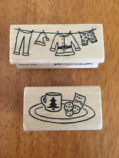 Lot Of 2 -Amuse Artstamps- Rubber Stamps- Christmas