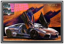 STEPHEN HOLLAND Original Giclee on CANVAS Signed Lamborghini Sports Car Artwork