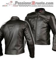 Giacca giubbotto pelle uomo Dainese Razon Nero Black Moto vintage scrambler