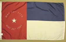 North Carolina NC State 1861 Indoor Outdoor Historical Dyed Nylon Flag 3' X 5'
