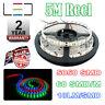5m 12v RGB LED Strip Light 5050 IP65 300SMD 18LM/SMD 60SMD/m Bright Waterproof