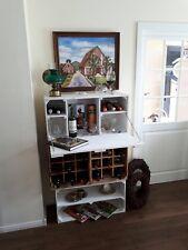 Große Shabby Chic Wand Hängebar mit integrierter Arbeitsplatte Bar Minibar