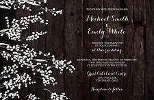 Wedding Invitations Baby Breath Rustic Country 50 Invitations & RSVP Cards