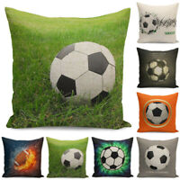 Pillow Cover Soccer Decor Cushion Case Football Home 18'' Throw