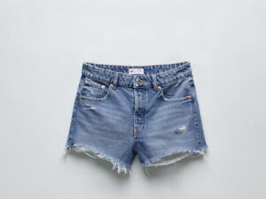 Zara Join Life Mid Rise Frayed Jeans Size 12