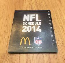 2014 MCDONALDS NFL SCHEDULE NFL FOOTBALL POCKET SCHEDULE 17 WEEK SCHEDULE