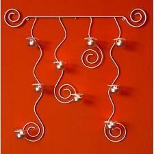 Soporte de pared para velas té Lysa Blanco Candelabro metal 74cm Portavelas