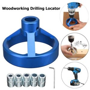 6-10mm Straight Angle Hole Drill Guide Bit Doweling Jig Woodworking Locator
