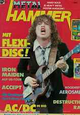 Magazin Metal Hammer 3,03/1985,AC/DC,Ratt,Accept,Iron Maiden,Destruction,Grave D