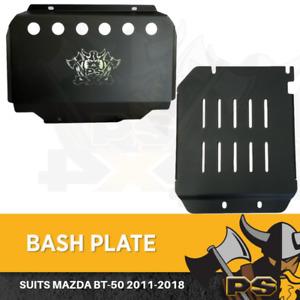 Bash Plate 4mm 2pc Powder Coated Black suit Mazda BT50 2011-2020 Sump Guard