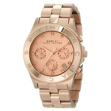 Marc by Marc Jacobs Blade Chronograph Rose Dial Women's Watch