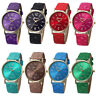 Fashion Women Roman Watch Ladies Leather Band Alloy Analog Quartz Wrist Watches
