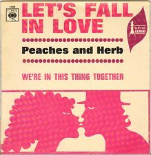 """PEACHES & HERB """"WE'RE IN THIS THING TOGETHER"""" NORTHEN SOUL 60'S SP CBS 2509"""