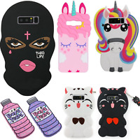 Cute Cartoon Unicorn Horse 3D Mask Soft Silicone Rubber Case for iPhone&Samsung