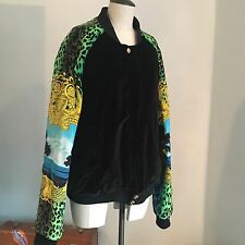 Versace X H&M Mens Bomber Baroque Vintage Style Jacket Size XL Kanye