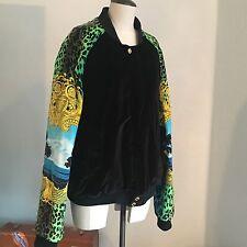Versace X H&M Mens Bomber Baroque Vintage Style Jacket Size XL Kanye hanger&bag