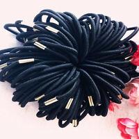 10PCS Black Elastic Hair Ties Band Rope Ponytail Bracelets Scrunchie for Women