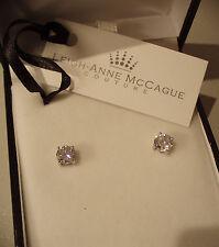 1.CT Man Made Brilliant Rotondo Taglio Diamante perno a vite Retro Orecchini 925 argento.