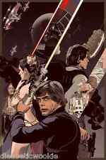Star Wars Return Jedi Darth Vader Luke Death Star Movie Art Print poster SMALL