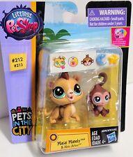 Lion & Monkey Masai Manely & Abiu Arbor #212-213 Littlest Pet Shop City LPS