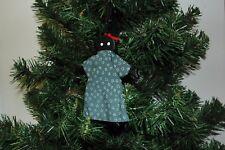 Folk Art African American, Black Lady (in her hair curlers) Christmas Ornament -