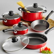 9pcs Cookware Set Non Stick Pot Pan Home Kitchen Cooking Dining Aluminum Cooktop